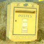 Yellow post box